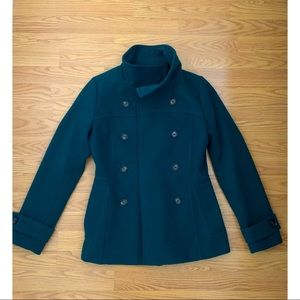 Hunter green Pea coat